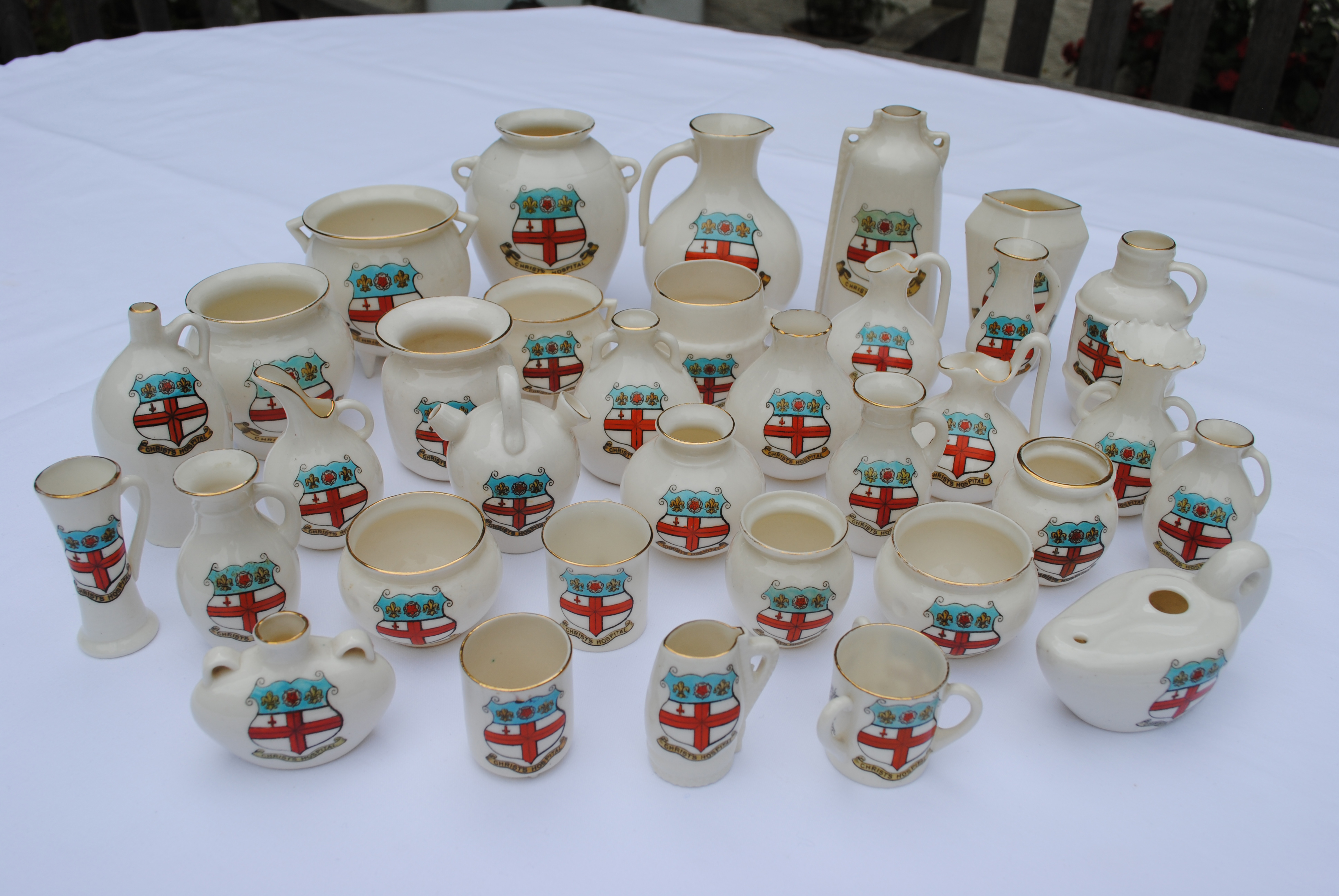 A selection of  Goss china