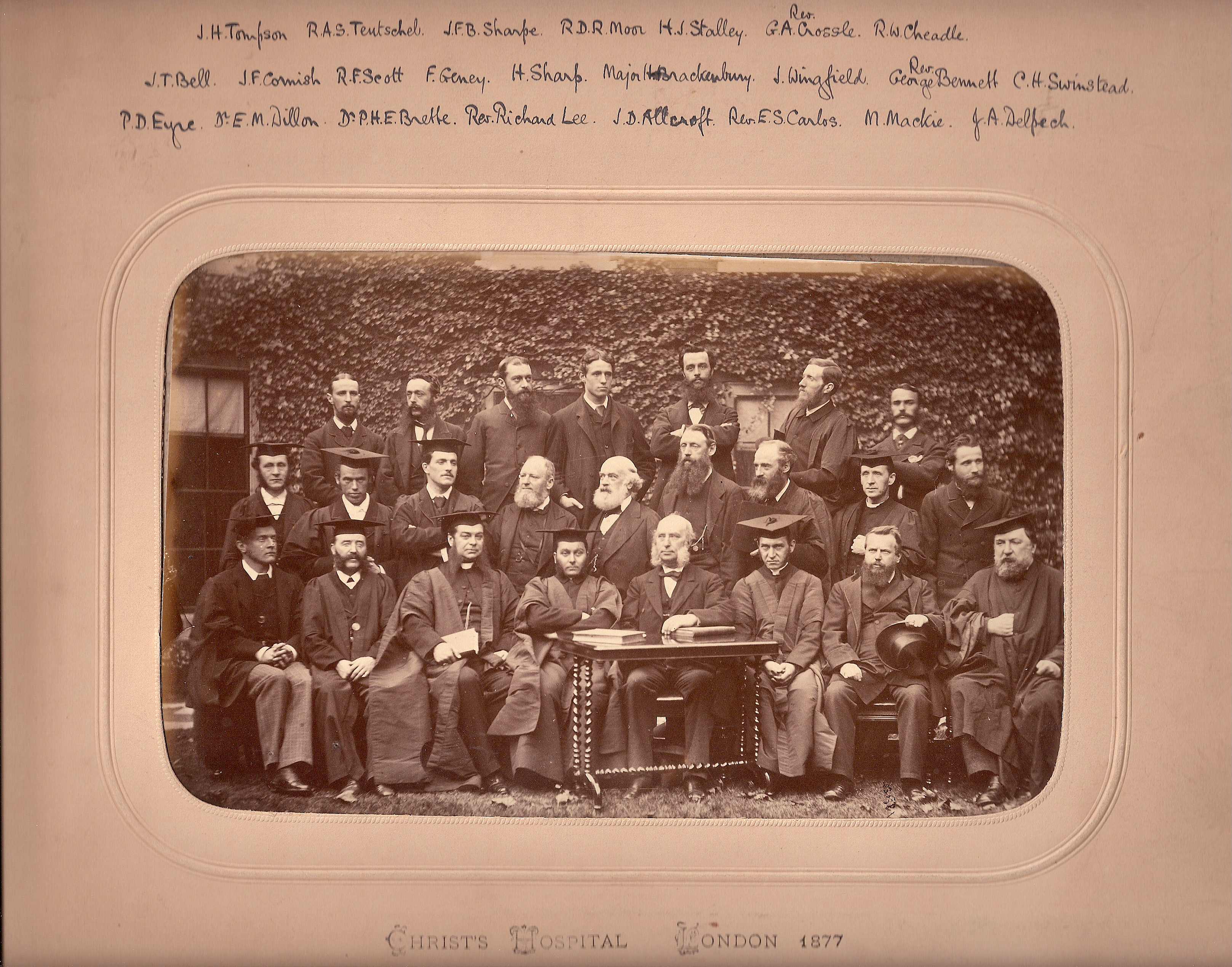 Head Master and staff 1877