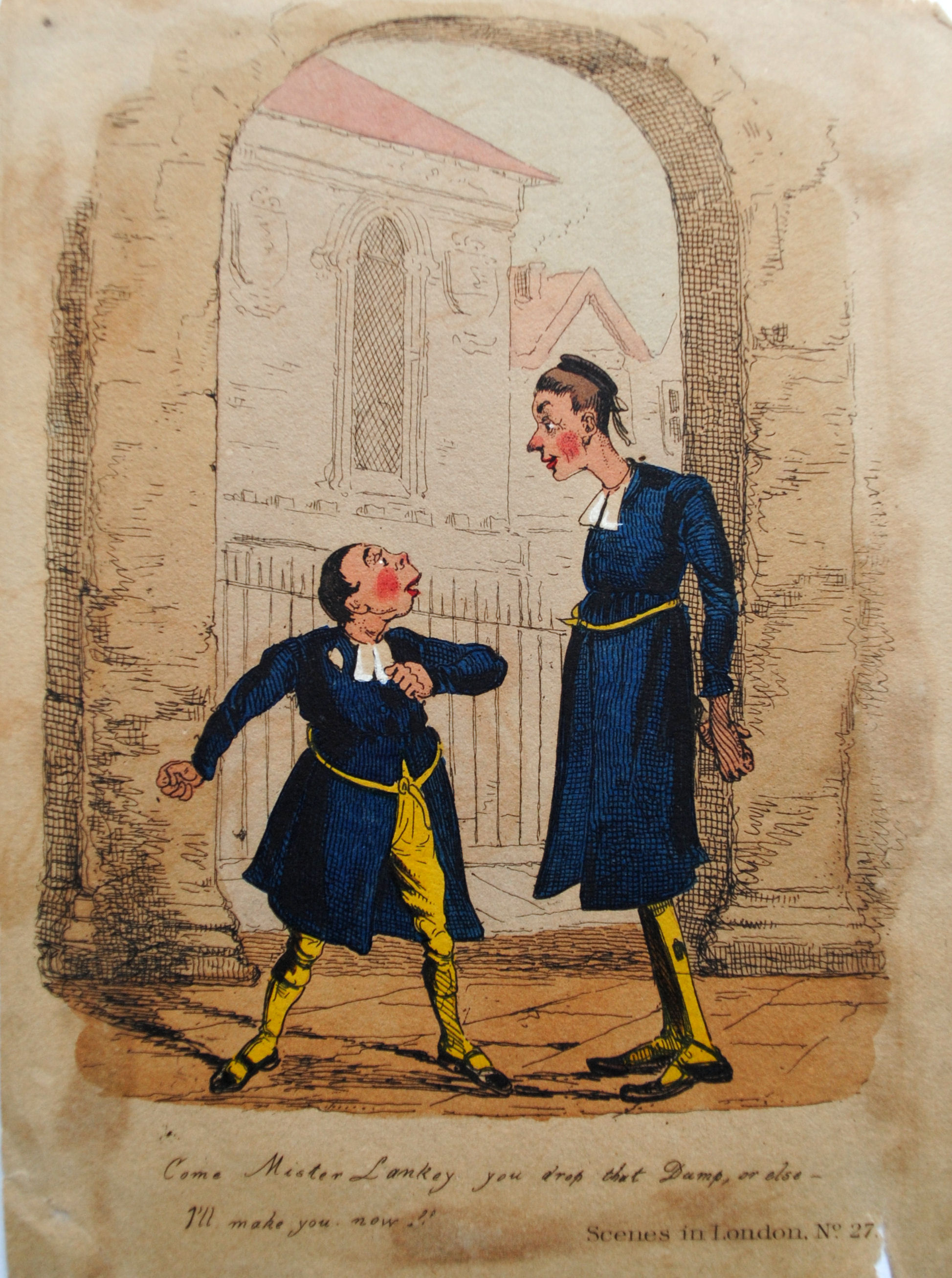 Cartoon of two CH boys by Henry Heath