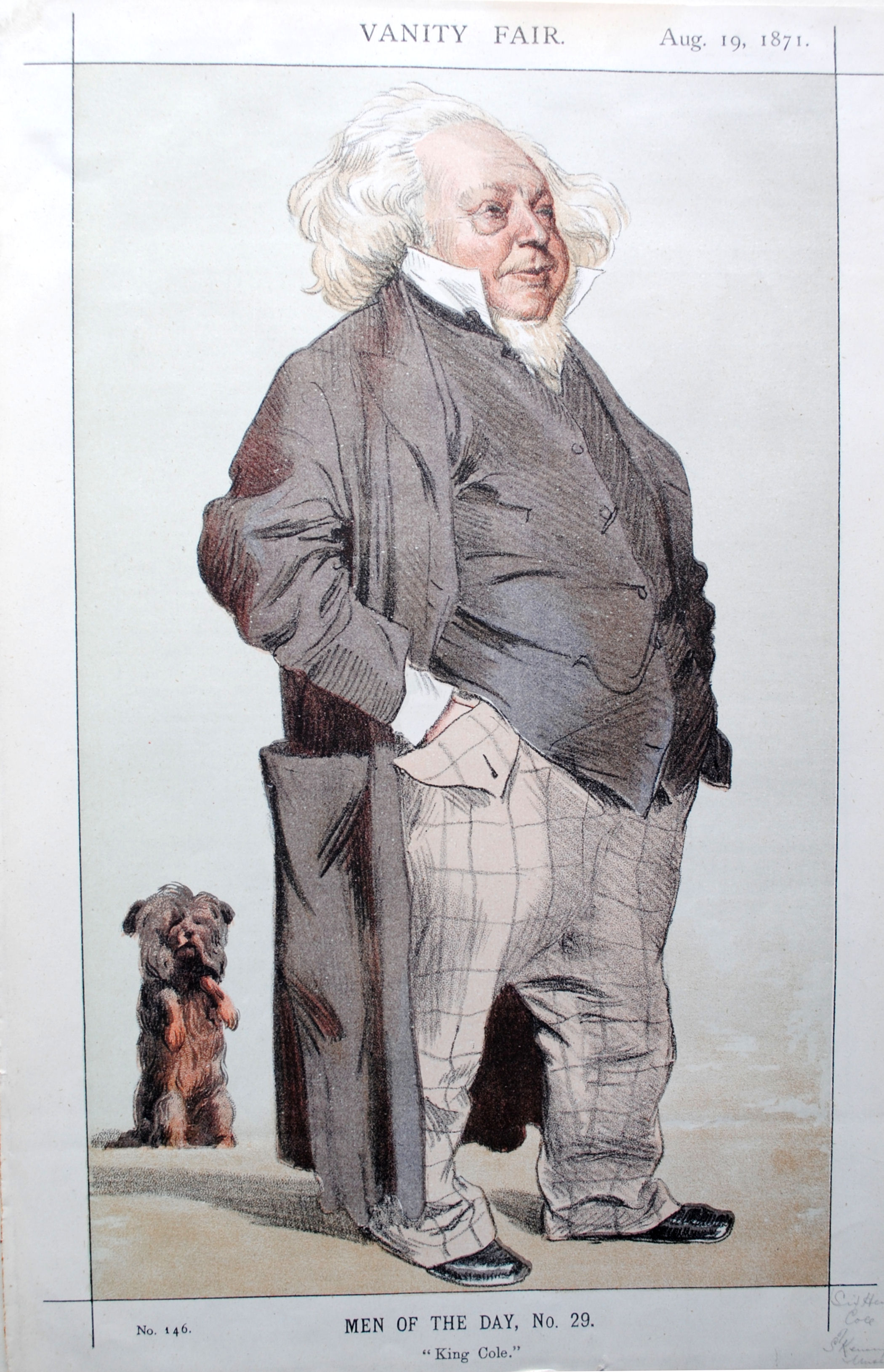 Vanity Fair cartoon of Sir Henry Cole