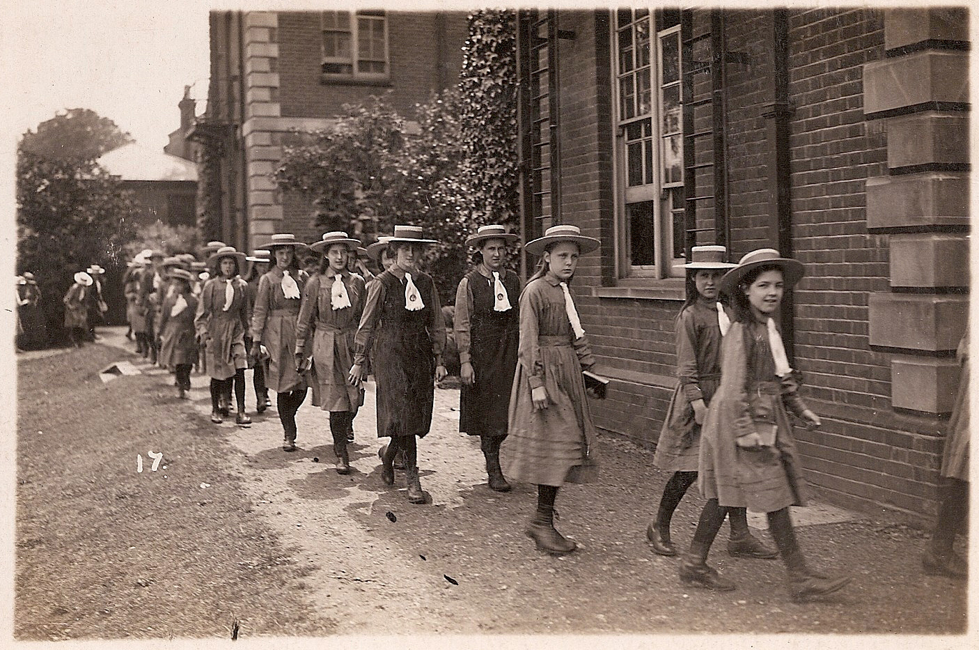 Girls returning from chapel