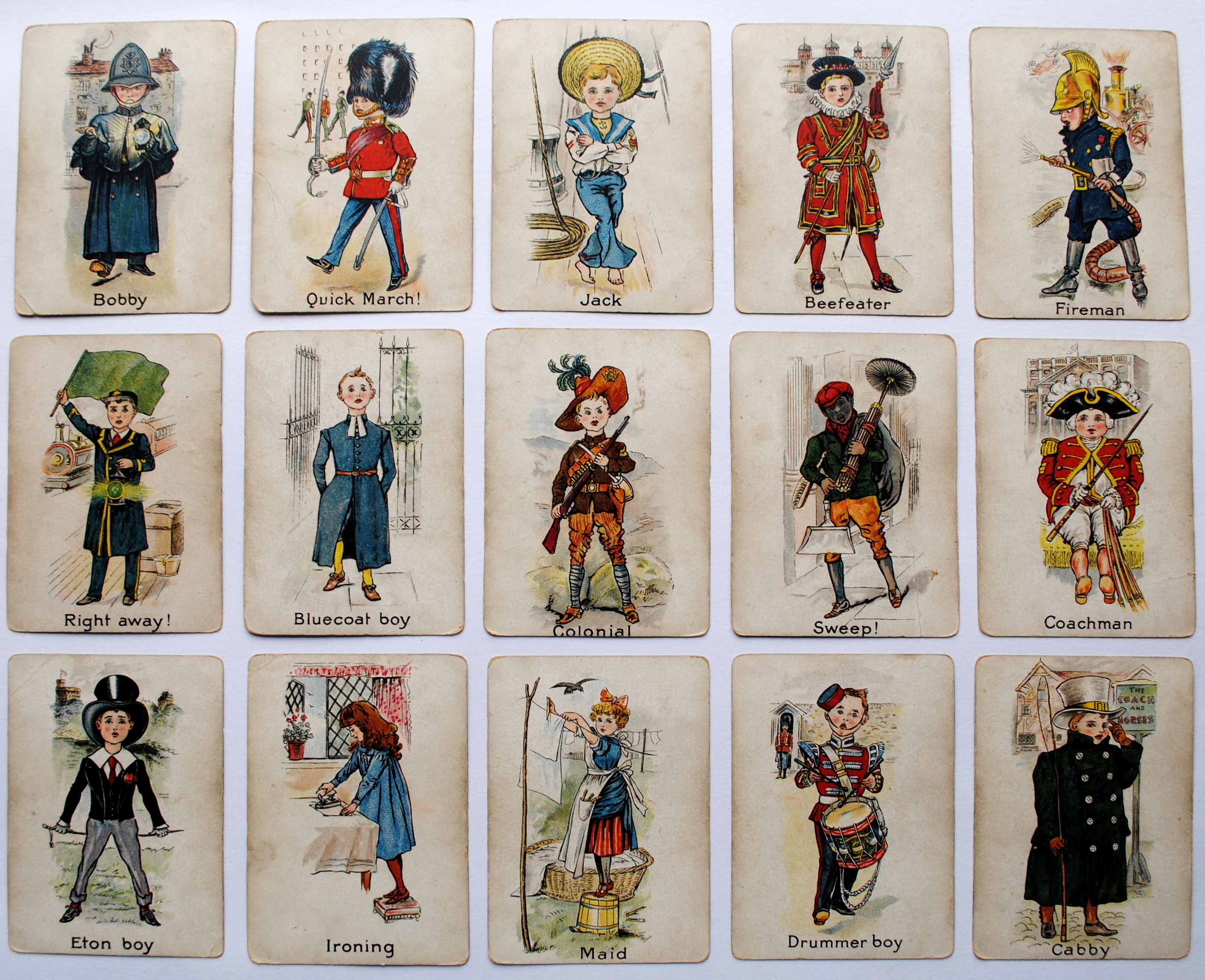 Set of Snap cards c1900