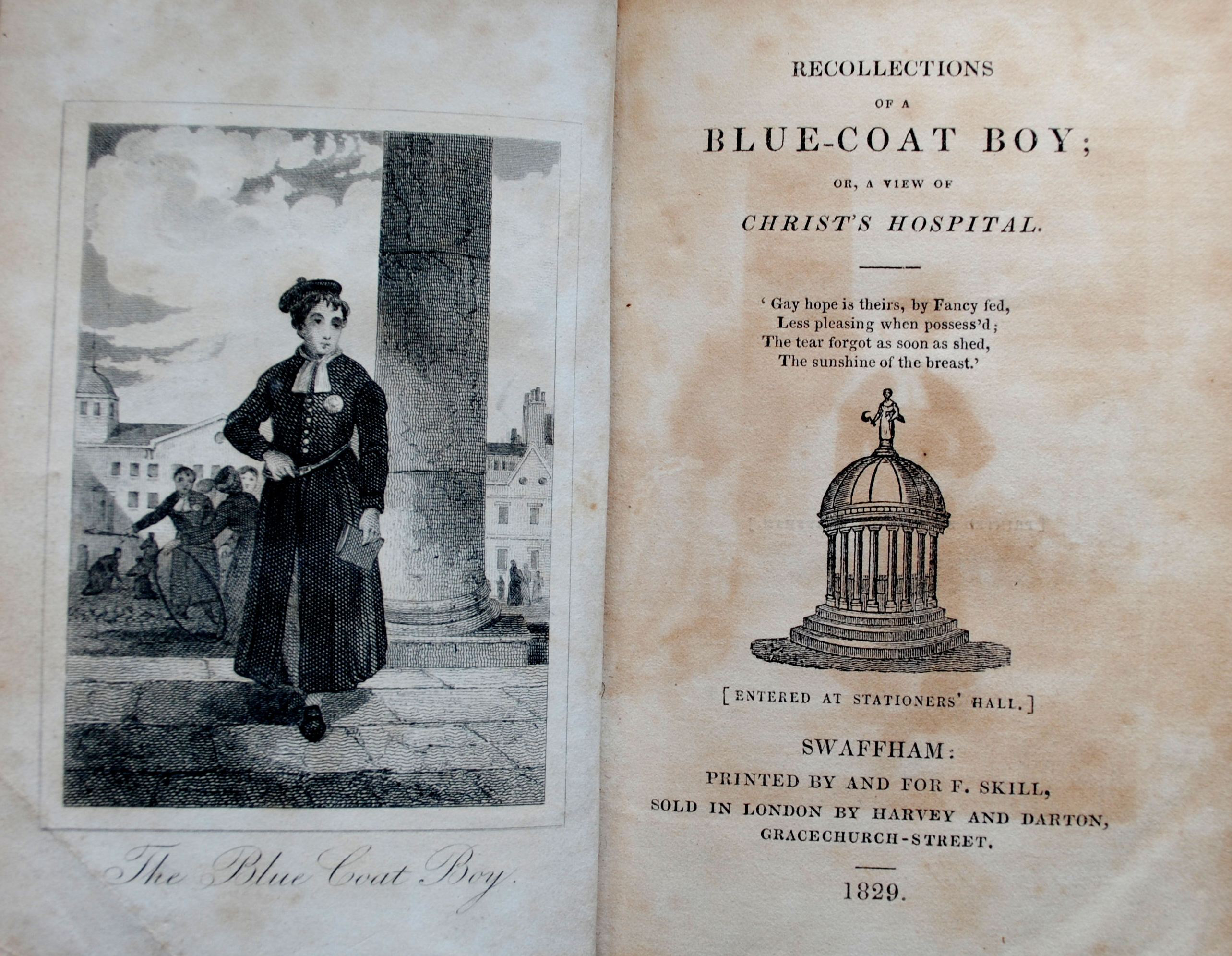 Recollections of a Blue-coat Boy 1829